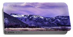 Winter Sunrise Portable Battery Charger by Nancy Marie Ricketts