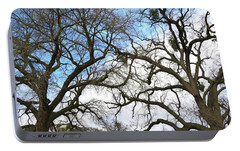 Portable Battery Charger featuring the photograph Winter Trees At Fort Tejon Lebec California  by Floyd Snyder