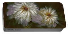Portable Battery Charger featuring the digital art Withering Peony by Bonnie Willis