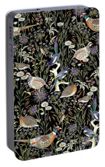 Woodland Edge Birds Portable Battery Charger by Jacqueline Colley
