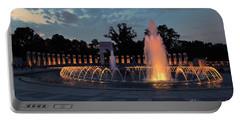 World War II Memorial Fountain Portable Battery Charger