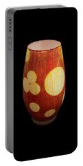 Yellow And White Vase Portable Battery Charger