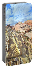 Yellow Brick Road In Valley Of Fire Portable Battery Charger