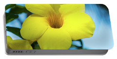 Yellow Flower Portable Battery Charger by James Gay