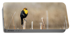 Yellow Headed Blackbird Portable Battery Charger