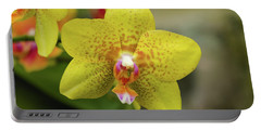 Portable Battery Charger featuring the photograph Yellow Orchid by Cristina Stefan