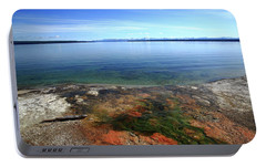Portable Battery Charger featuring the photograph Yellowstone Lake Colors by Frank Romeo