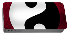 Portable Battery Charger featuring the digital art Yin And Yang by Marianna Mills