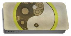 Yin Yang Pop Art By Mary Bassett Portable Battery Charger
