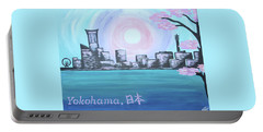 Yokohama Skyline Portable Battery Charger by Cyrionna The Cyerial Artist