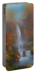 Yosemite Bridal Veil Falls Portable Battery Charger by Joe Gilronan