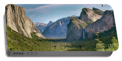 Yosemite Falls Portable Battery Charger by Walter Colvin