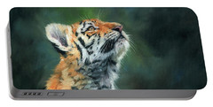 Young Amur Tiger Portable Battery Charger by David Stribbling