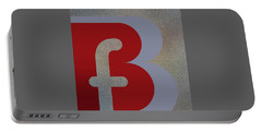 Your Name - B F Or F B Monogram Portable Battery Charger