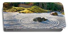 Zen Garden At A Sunny Morning Portable Battery Charger