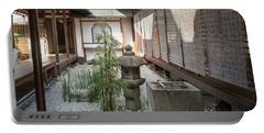 Zen Garden, Kyoto Japan Portable Battery Charger