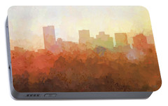 Portable Battery Charger featuring the digital art Phoenix Arizona Skyline by Marlene Watson