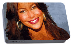 Sofia Vergara Art Print Portable Battery Charger by Best Actors