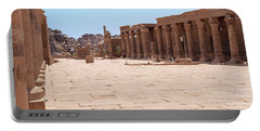 Portable Battery Charger featuring the photograph Temple Of Isis by Silvia Bruno