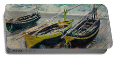 Three Fishing Boats Portable Battery Charger