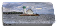 1000 Island Lighthouse Portable Battery Charger by Sharon Batdorf