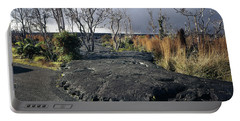 Portable Battery Charger featuring the photograph 100925 Lava Flow On Road Hi by Ed Cooper Photography