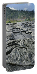 Portable Battery Charger featuring the photograph 100964 Lava Flow Patterns Hi by Ed Cooper Photography