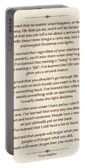 101-  Maya Angelou Portable Battery Charger by Joseph Keane