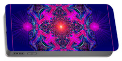 1028 -  A Mandala Purple And Pink 2017 Portable Battery Charger