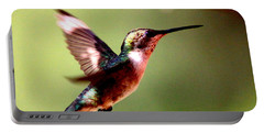 103456 - Ruby-throated Hummingbird Portable Battery Charger by Travis Truelove