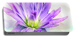 10889 Purple Lily Portable Battery Charger