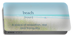 10967 Beach Tranquility Portable Battery Charger