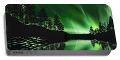 Portable Battery Charger featuring the photograph Aurora Borealis by Setsiri Silapasuwanchai
