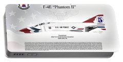 Mcdonnell Douglas F-4e Phantom II Thunderbird Portable Battery Charger