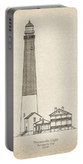 Pensacola Lighthouse - Florida - Blueprint Drawing Portable Battery Charger