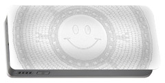 110-happy Face 0115 Wampum White Portable Battery Charger