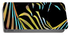 1149s-ak Dramatic Zebra Striped Woman Rendered In Composition Style Portable Battery Charger