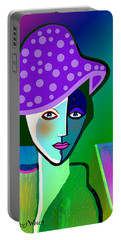 2518 - Her Purple Pocodot Hat 2017 Portable Battery Charger