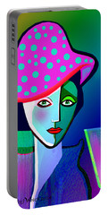 1150 - Her New Pocodot Hat 2017 Portable Battery Charger by Irmgard Schoendorf Welch