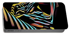 Portable Battery Charger featuring the digital art 1177s-ak Abstract Nude Her Fingers On Pubis Erotica Composition Style  by Chris Maher