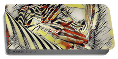 1177s-ak Abstract Nude Her Fingers On Pubis Erotica In The Style Of Kandinsky Portable Battery Charger