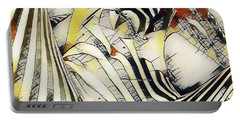 Portable Battery Charger featuring the digital art 1177s-ak Erotica In The Style Of Kandinsky by Chris Maher