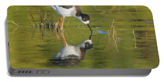 Portable Battery Charger featuring the photograph Black-necked Stilt by Tam Ryan