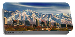 Salt Lake City Skyline Portable Battery Charger
