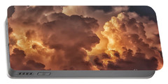 Thunderhead At Sunset Portable Battery Charger by Thomas R Fletcher
