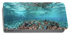 Underwater Coral Reef And Fish In Indian Ocean, Maldives. Portable Battery Charger