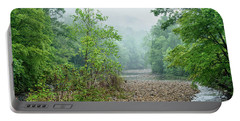 Portable Battery Charger featuring the photograph Williams River Summer Mist by Thomas R Fletcher