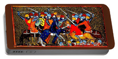 Portable Battery Charger featuring the painting 12th Century Christian Crusaders by Peter Gumaer Ogden