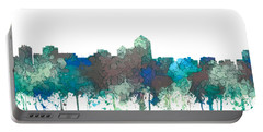 Portable Battery Charger featuring the digital art Albuquerque New Mexico Skyline by Marlene Watson