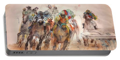 Portable Battery Charger featuring the painting American  Pharaoh  Album  by Debbi Saccomanno Chan